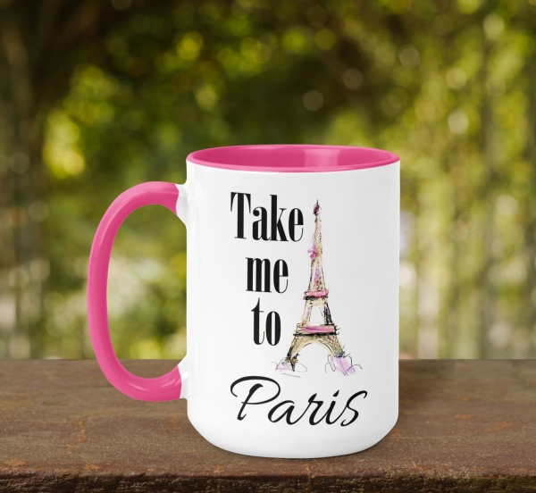 Cana Personalizata - Take Me To Paris 0