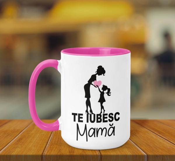 Cana Personalizata - Te Iubesc Mama 0