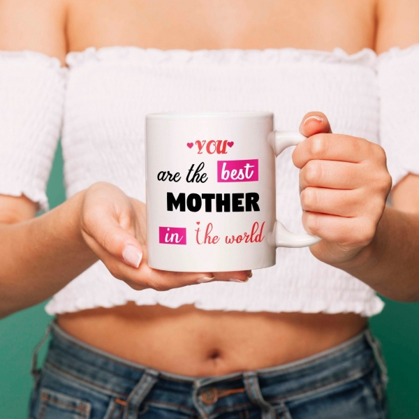 Cana personalizata - The best mother 0