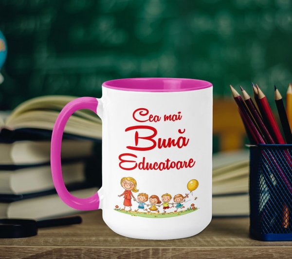 Cana Personalizata - Cea Mai Buna Educatoare 0