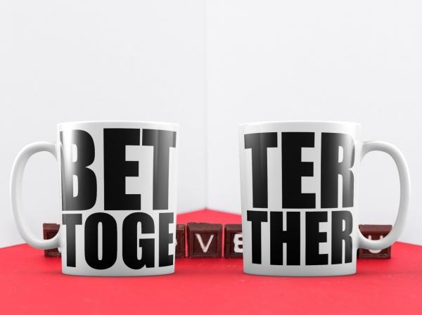 Cani Personalizate Cuplu - Better Together 0