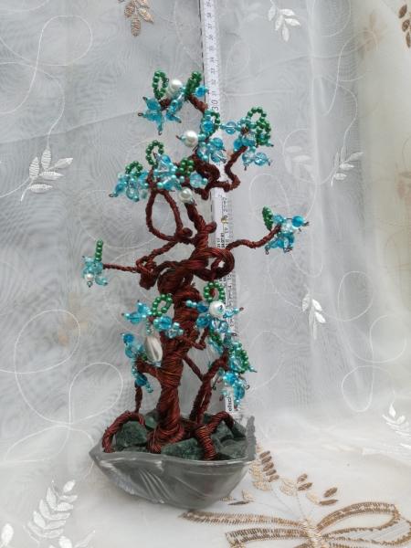 Copacel decorativ Feng Shui M18 - Cuart Roz si Agat Verde 0