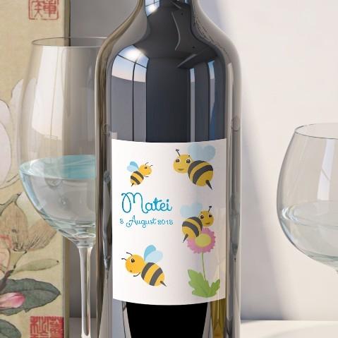 Eticheta Personalizata Vin Botez - Albinute [0]