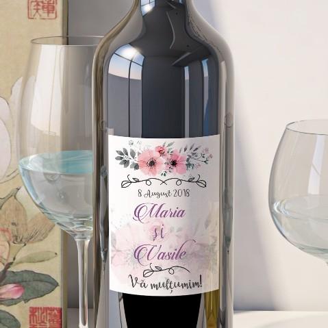 Eticheta Vin Personalizata - Floral 2 [0]