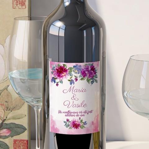 Eticheta Vin Personalizata - Floral 19 [0]