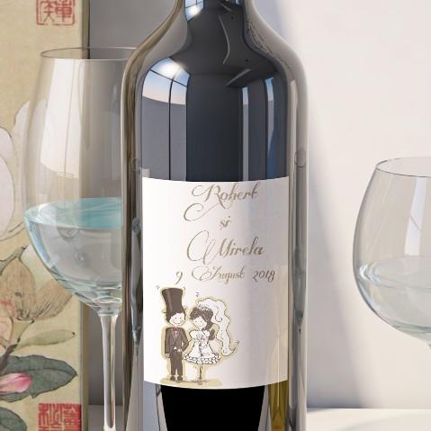Eticheta Vin Personalizata - Romantic 14 0