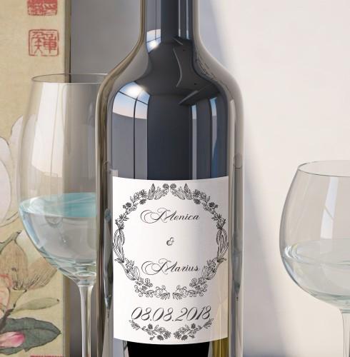 Eticheta Vin Personalizata - Floral 6 0