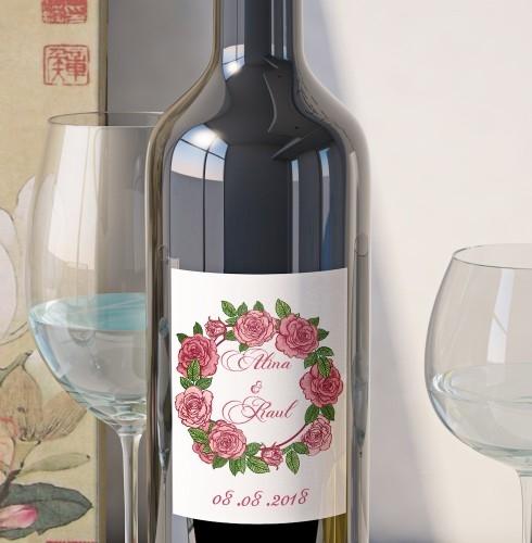 Eticheta Vin Personalizata - Floral 7 0