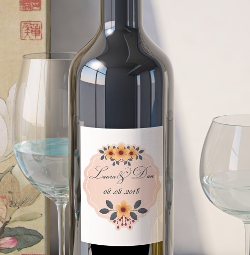 Eticheta Vin Personalizata - Floral 8 [0]