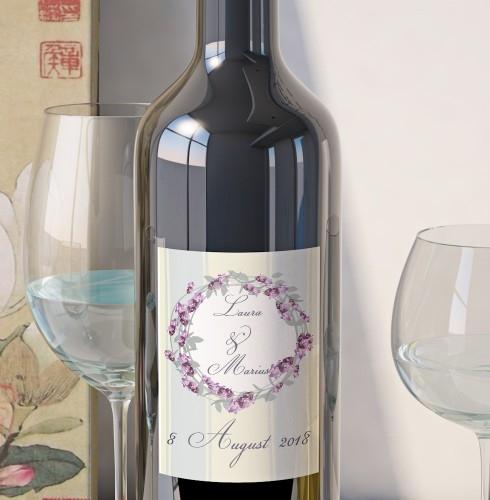 Eticheta Vin Personalizata - Floral 9 0