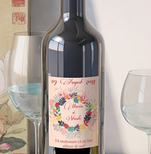 Eticheta Vin Personalizata - Floral 12 0