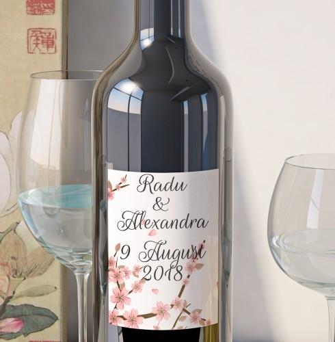 Eticheta Vin Personalizata - Floral 13 0