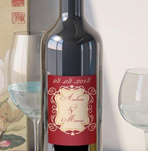 Eticheta Vin Personalizata - Romantic 1 0