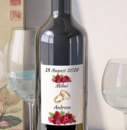 Eticheta Vin Personalizata - Floral 14 0