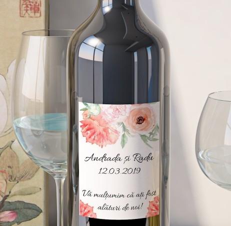 Eticheta Vin Personalizata - Floral 15 [0]