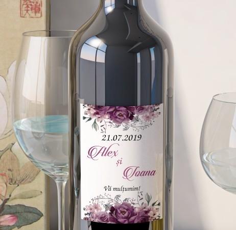 Eticheta Vin Personalizata - Floral 16 0