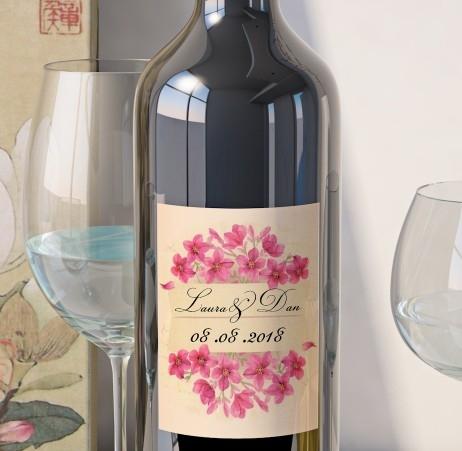 Eticheta Vin Personalizata - Floral 17 0