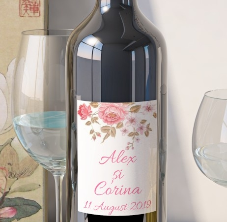 Eticheta Vin Personalizata - Floral 18 0