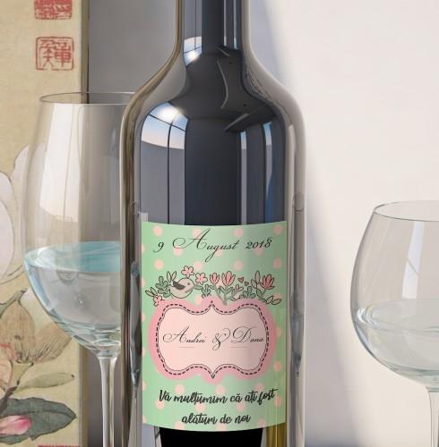 Eticheta Vin Personalizata - Romantic 3 0