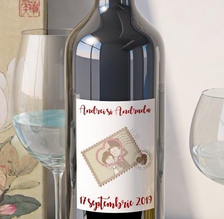 Eticheta Vin Personalizata - Romantic 6 0