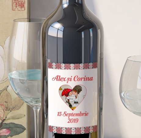Eticheta Vin Personalizata - Traditional 2 0
