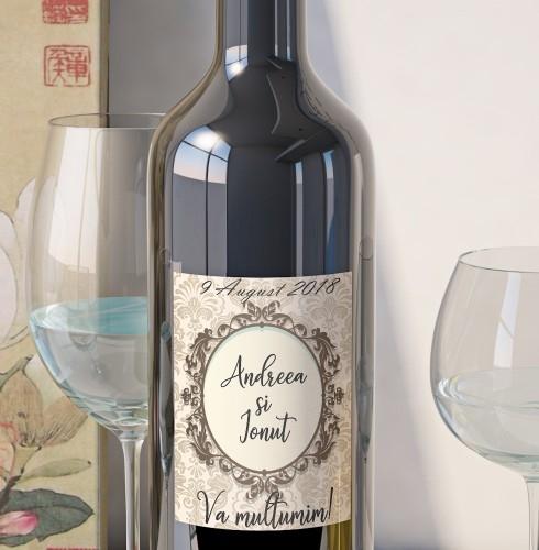 Eticheta Vin Personalizata - Vintage 3 0