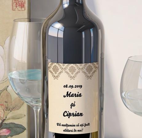 Eticheta Vin Personalizata - Vintage 8 0