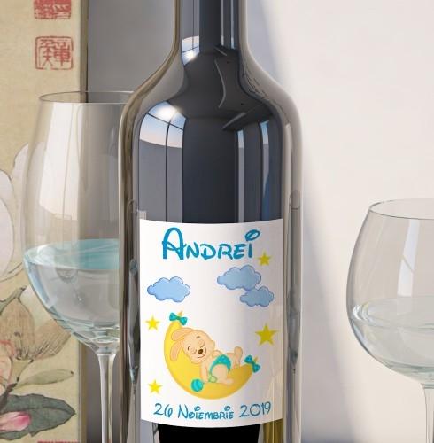 Eticheta Personalizata Vin Botez - Iepuras [0]