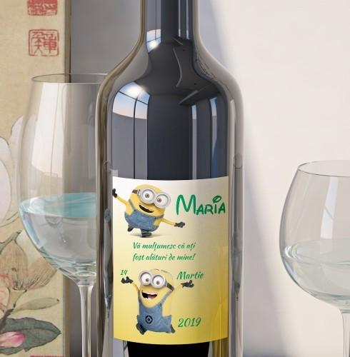 Eticheta Personalizata Vin Botez - Minioni 0