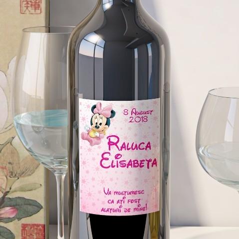 Eticheta Personalizata Vin Botez - Minnie Mouse [0]