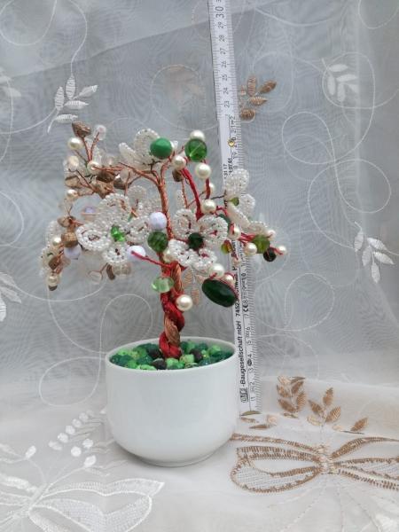 Flori decorative din margele M28 - Margele de nisip sau sticla si Aquamarin 0