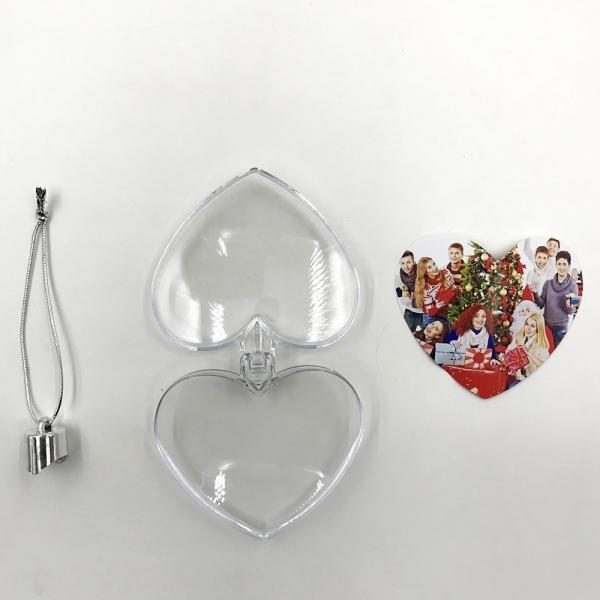 Glob pentru brad cu poza - Inima 3