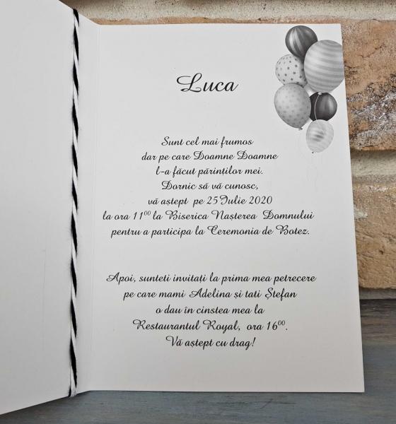 Invitatie Botez cod 8046 4