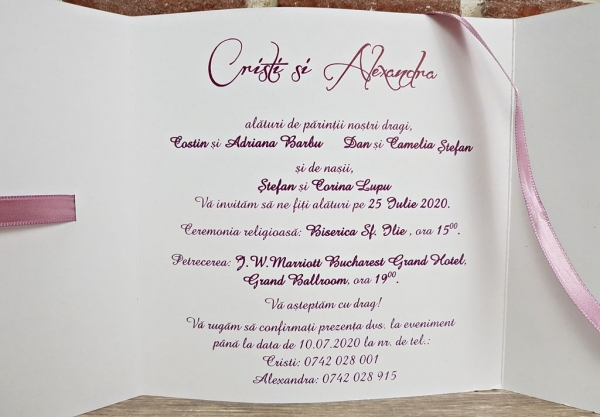 Invitatie nunta cod 5594 7