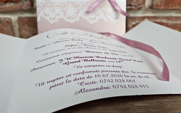 Invitatie nunta cod 5594 6