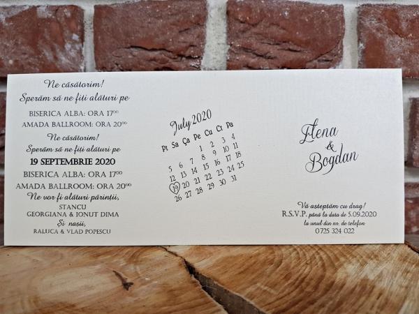 Invitatie nunta cod 5616 3