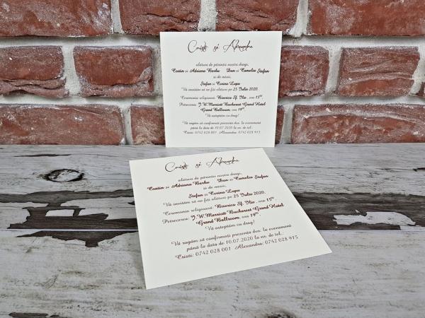 Invitatie nunta cod 5624 5