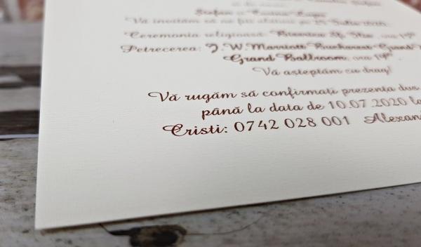 Invitatie nunta cod 5624 6