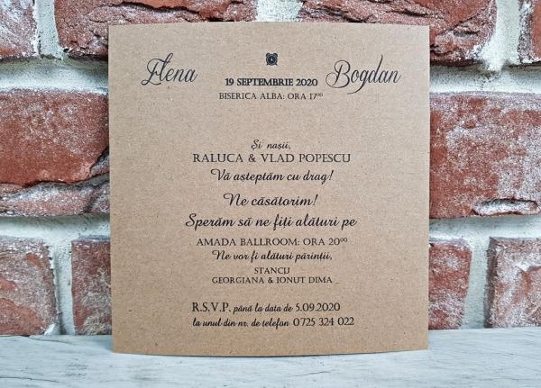 Invitatie nunta cod 5642 3