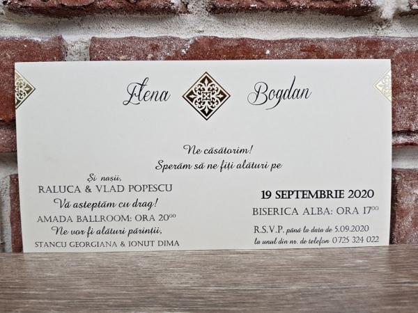 Invitatie nunta cod 5654 3