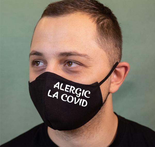 Masca Personalizata - Alergic La Covid 0