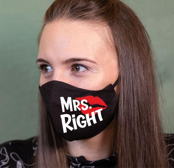 Masca Personalizata - Mrs. Right 0