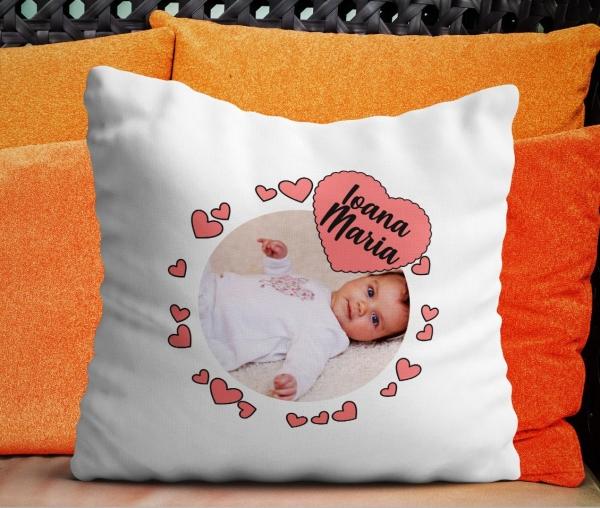 Perna  Personalizata - Bebe Cu Inimioare 0