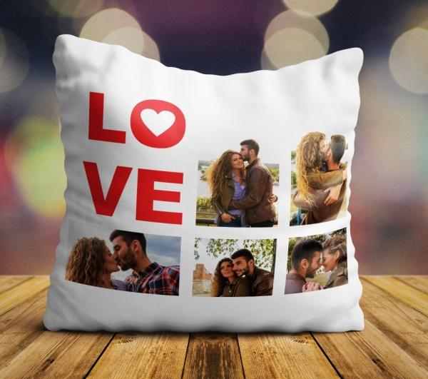 Perna personalizata LOVE cu 5 poze 0