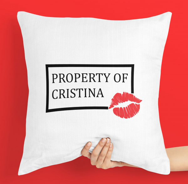 Perna personalizata - Property of nume [0]