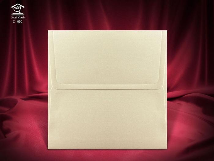 Plic Invitatii Nunta sau Botez - Z050 Crem Satinat [0]