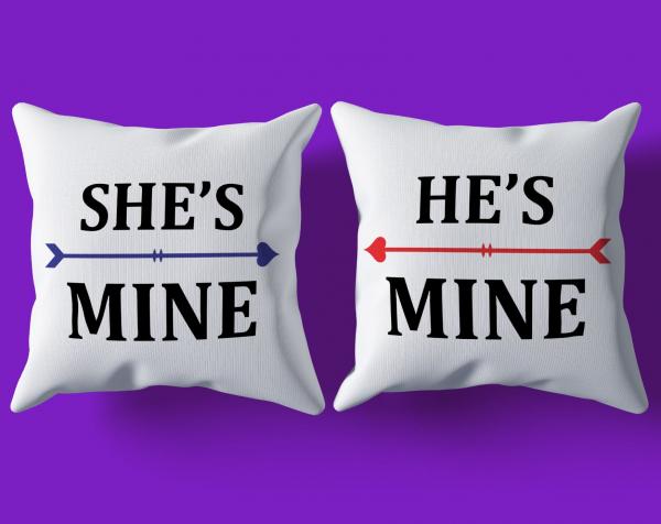 Set Perne Pentru Cuplu - He's Mine / She's Mine 0