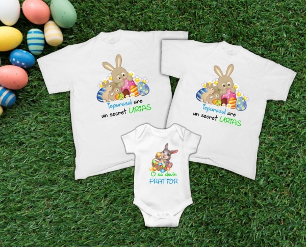 Set Tricouri Personalizate de Paste - Surpriza Gravida 0