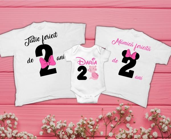 Set Tricouri Personalizate si Body - Aniversare 2 ani Pisicuta [0]