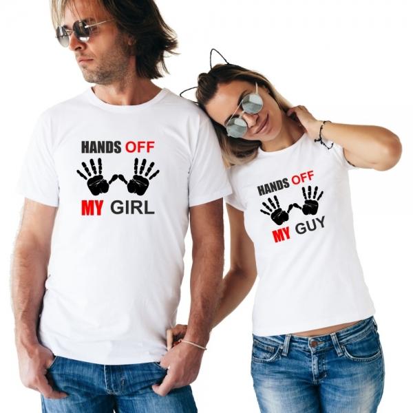 Tricouri Cuplu Personalizate - Hands Off [0]